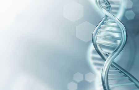 Abstract science background with DNA strands Imagens