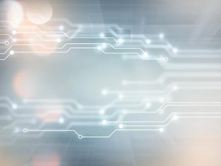 テクノロジー: 白とグレーの色調で抽象的なハイテク背景