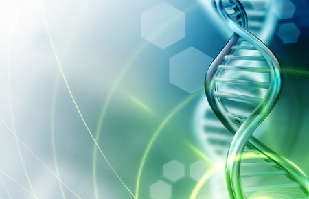 molecular biology: Abstract science background with DNA strands Stock Photo