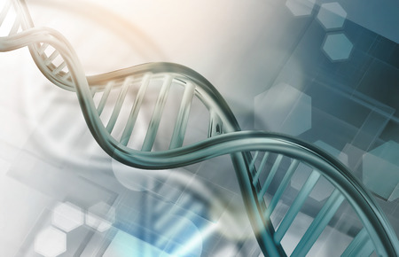 strands: Abstract science background with DNA strands Stock Photo
