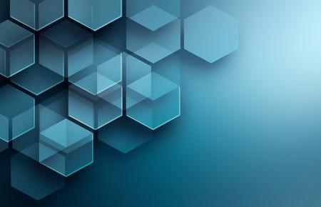 technologie: Résumé de fond de haute technologie dans des tons bleus Banque d'images