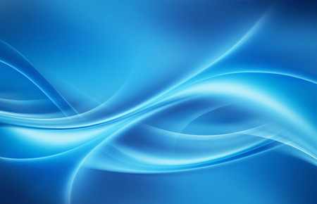abstract blue background with smooth shining lines 写真素材