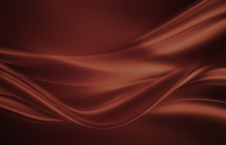 brown: flowing liquid chocolate waves as background Stock Photo