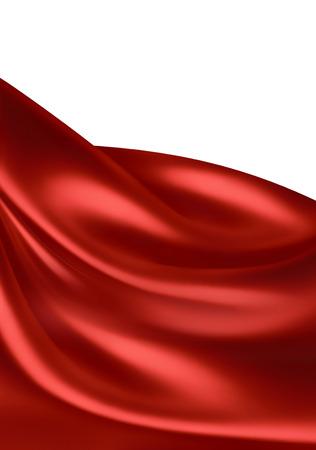 tela seda: olas de tela de seda roja como fondo Foto de archivo