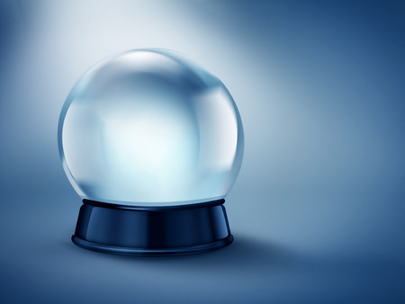 magic ball: empty magic ball on dark background with soft light Stock Photo