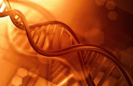 dna strands: Abstract science background with DNA strands Stock Photo