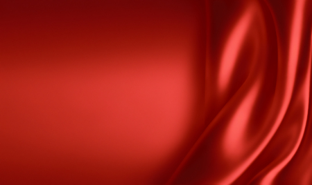 red cloth: waves of red silk cloth as background