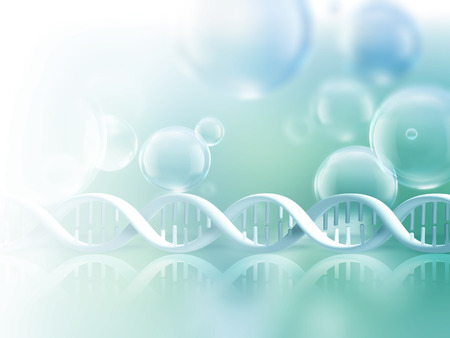 Abstract science background with DNA strands Foto de archivo