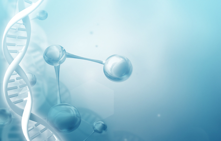 Abstract science background with DNA strands Stock Photo