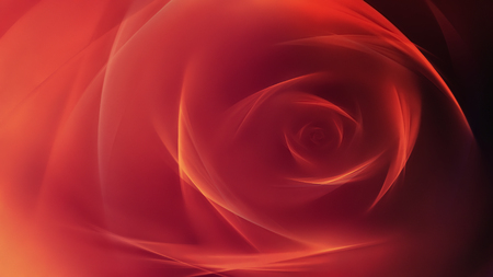 バラの形をした光る線で赤背景