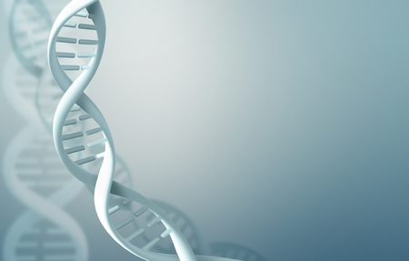 Abstract science background with DNA strands Stockfoto