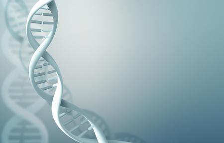 Abstrait arrière-plan de la science avec des brins d'ADN