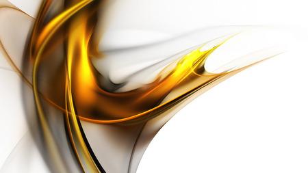 Helle goldene Abstraktion auf weißem Hintergrund als