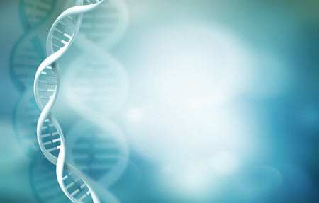 blue dna: Abstract science background with DNA strands Stock Photo