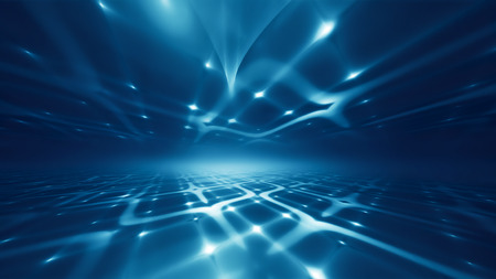Abstract futuristic technology background with fractal horizon