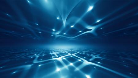 Kort futuristische technologie achtergrond met fractal horizon