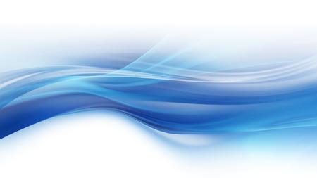 滑らかな輝くラインと青い背景