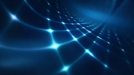 Abstract technology background with blue shining light