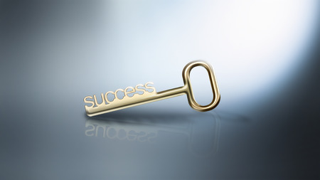 golden key: golden key to success conceptual image Stock Photo