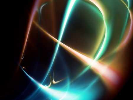 fluorescent lights: abstract background with fluorescent line Stock Photo