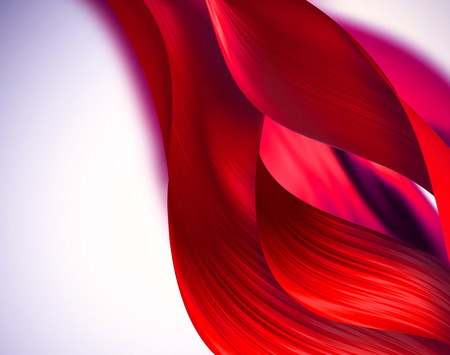 motion modern: red waves with soft shadow as background Stock Photo