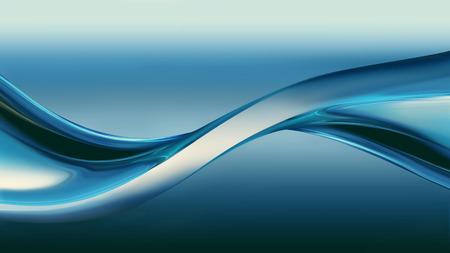onde de chrome bleu comme arrière-plan