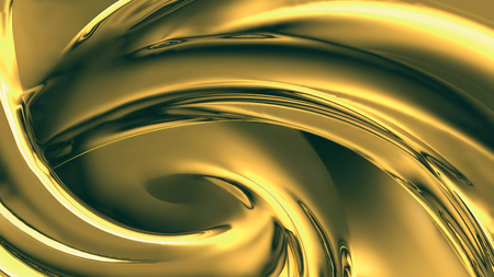 alloy: wave of yellow chrome close-up
