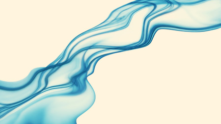 abstract smoke: Abstract blue smoke on white background