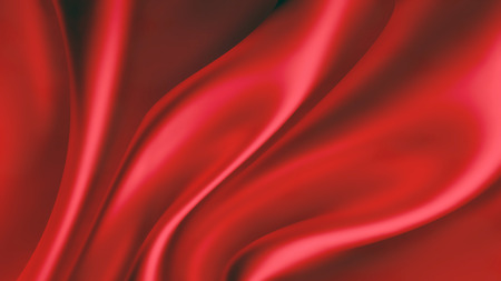 waves of red silk as background