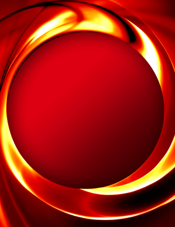 abstract background with smooth lines of fire Stock Photo