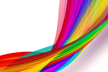 vivid colors: rainbow striped waves background Stock Photo