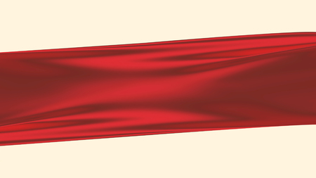 red silk against white as background