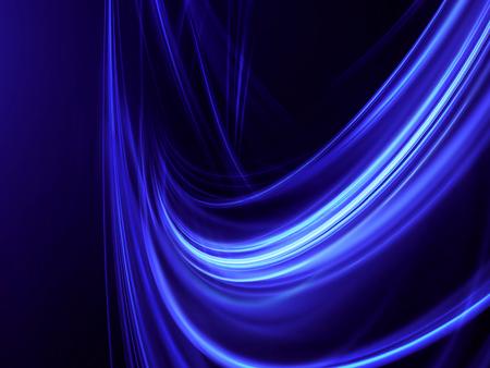 black blue: Blue glowing lines on a dark background