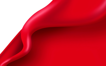 abstract red wave on a white background