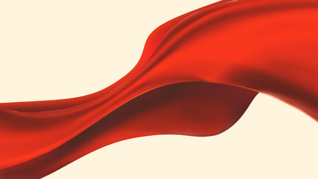 Smooth red cloth isolated on white background Reklamní fotografie