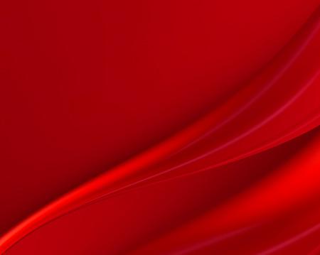 Abstrakter roter Hintergrund mit fließenden Wellen