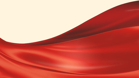 red cloth on a white background