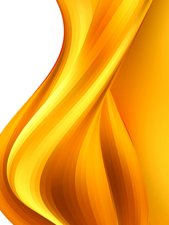 abstract  caramel wave on white background