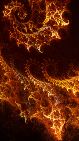 fiery: abstract background with fiery spiral fractal