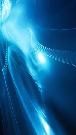 hitech: futuristic background with fractal horizon