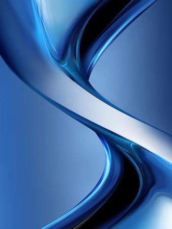 aluminium texture: wave of blue chrome as background