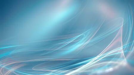 abstrakcyjne niebieskie tło z gładkimi lśniącymi liniami