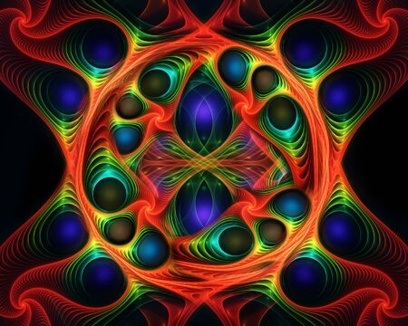 Abstract fractal background 免版税图像