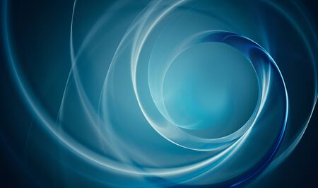 Deep blue abstract background with concentric light lines. 스톡 콘텐츠
