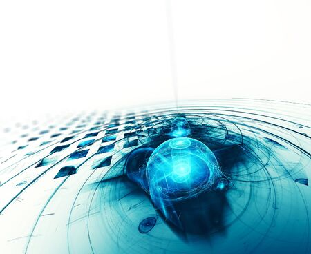 High tech abstract fractal background