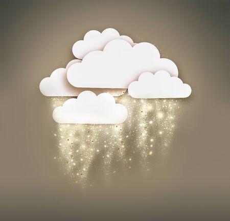 shining rain or snow 스톡 콘텐츠