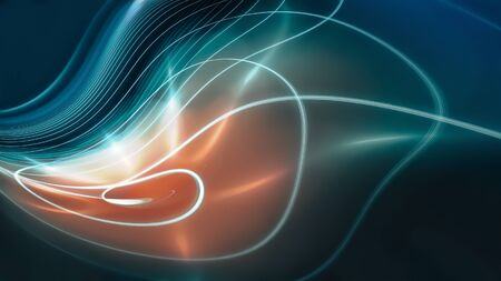 Abstract color background with smooth bright lines. 스톡 콘텐츠