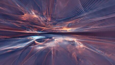 fondo de paisaje fractal Foto de archivo