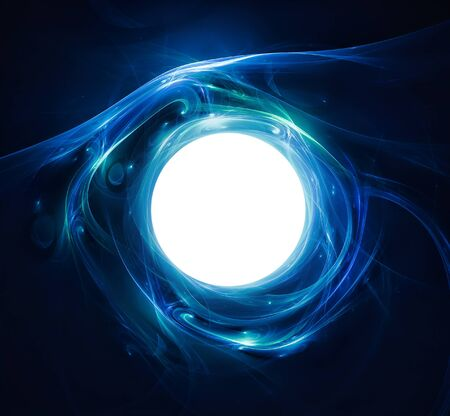 Abstract background with a shining ball i