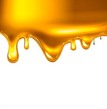 Flowing down liquid gold Zdjęcie Seryjne